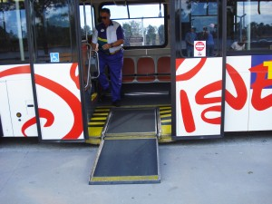 Disney bus wheelchair ramp