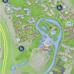 Dog walking map for Disney's Port Orleans Riverside Resort