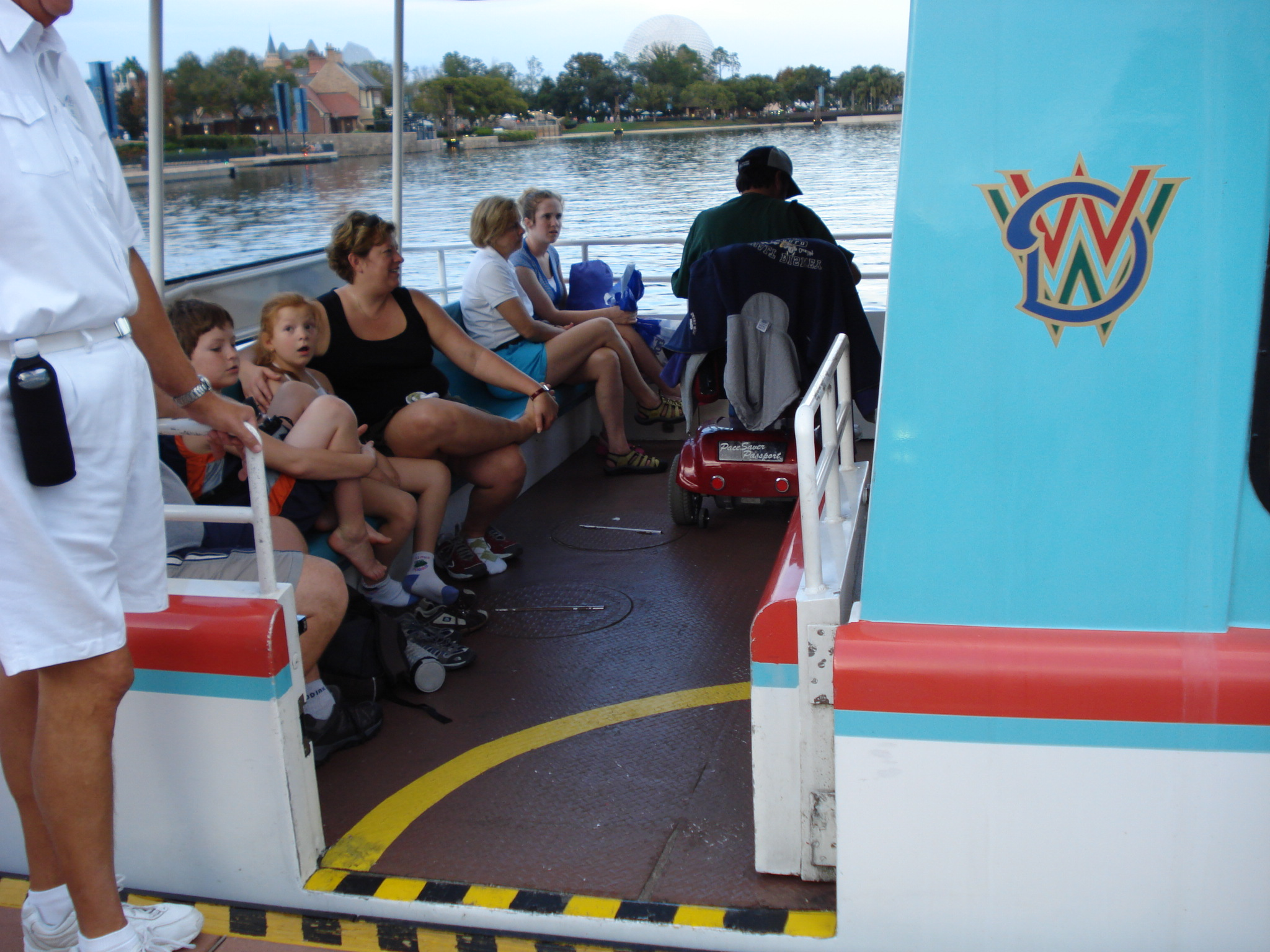 Using the disney world boats in an ecv or wheelchair for Disney world motorized scooter rental