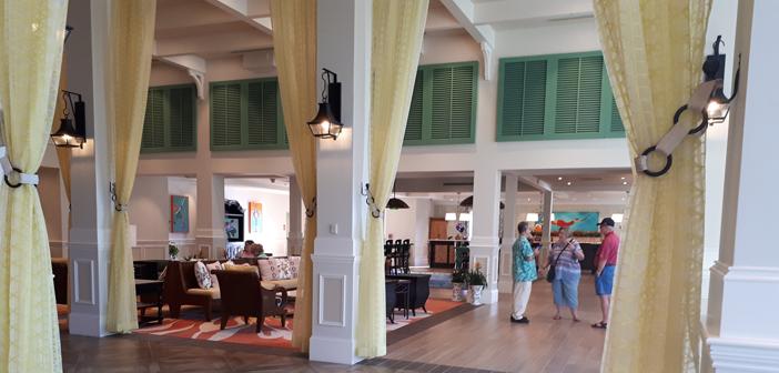 Disney's Caribbean Beach Resort lobby inside Old Port Royale
