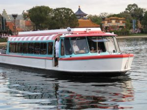 Boat transportation at Disney World