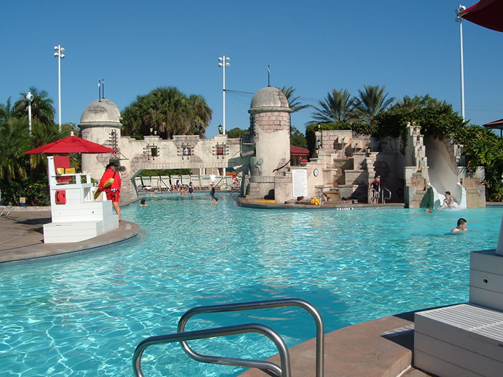 Fuentes Del Morro Pool and Aqua Pool Area at Caribbean Beach Resort
