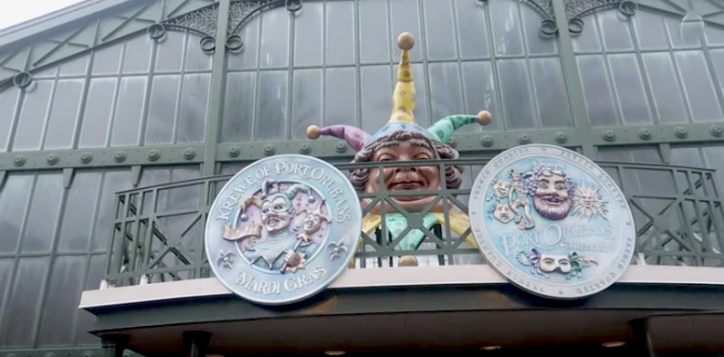 Disney's Port Orleans French Quarter Lobby Back Door Figure