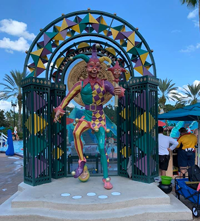 Jester by the pool at Port Orleans French Quarter