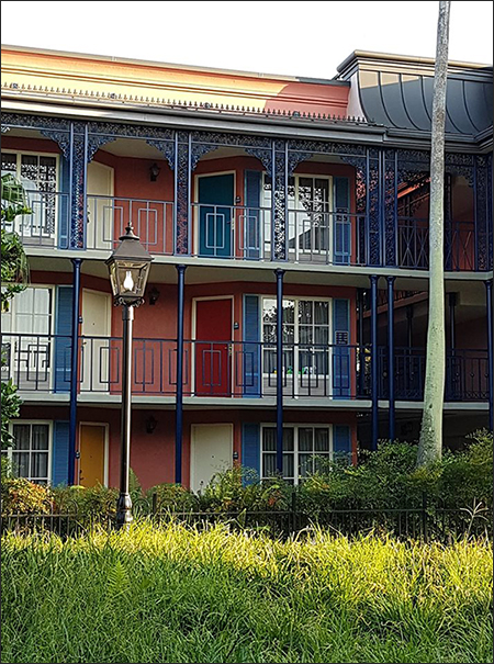 Port Orleans French Quarter Iron Works on Guest Buildings