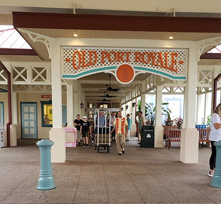 Old Port Royale Entrance and sign at Caribbean Beach Resort