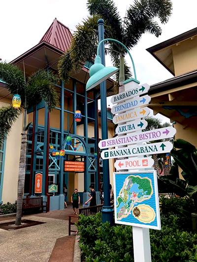 Sign at Caribbean Beach Resort