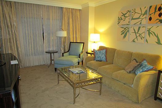 Waldorf Astoria deluxe suite living room
