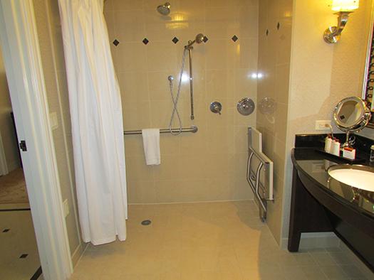 Waldorf Astoria handicapped bathroom
