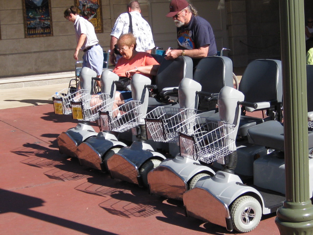 Safety while driving an ecv wheelchair or walking around for Disney world motorized scooter rental