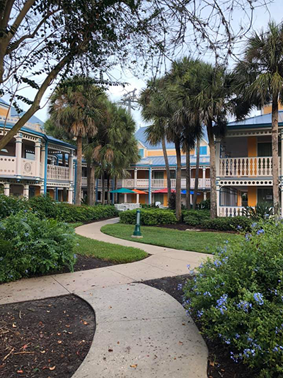 Outdoor guest building at Caribbean Beach Resort