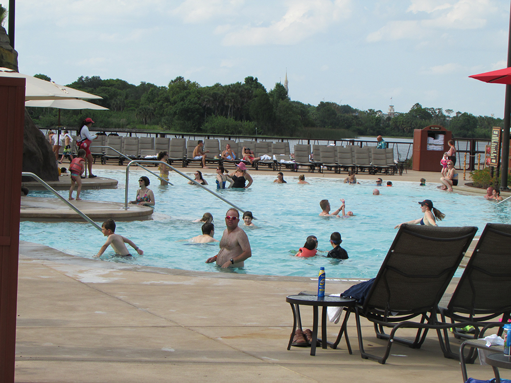 Disney's Polynesian Village Resort pool after 2015 seats
