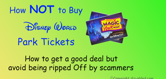 How to avoid scams when buying Disney World tickets