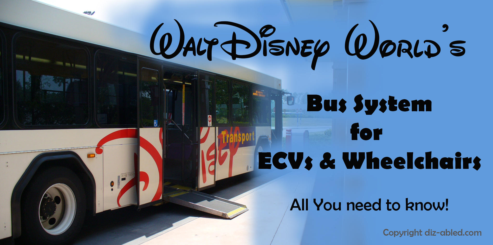 Using The Disney World Buses With A Wheelchair And Ecv Walt Disney
