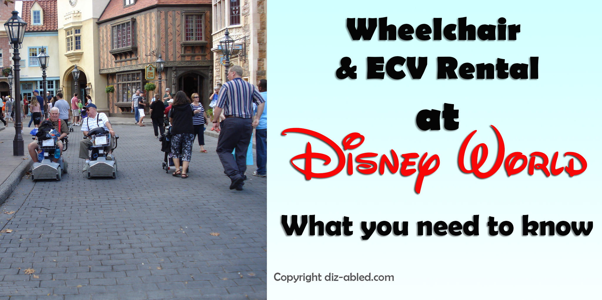 Renting Wheelchairs and ECVs Scooters From Disney World What you