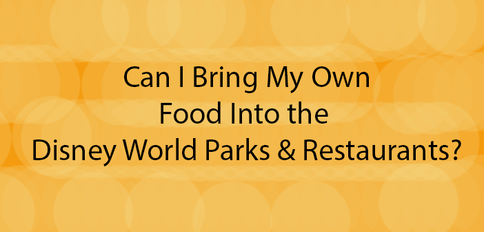 can i bring food into the parks and restaurants