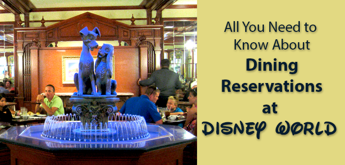 how to make dining reservations at disney world