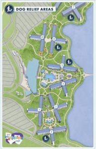 Dog walking map for Disney's Art of Animation Resort