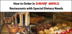 How to order at disney restaurants with special dietary needs