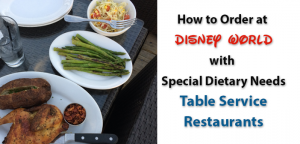 how to order at full service restaurants with special dietary needs