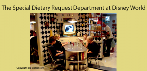 Special dietary requests department at Disney World