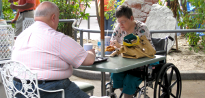 wheelchairs ecvs scooters in disney world restaurants