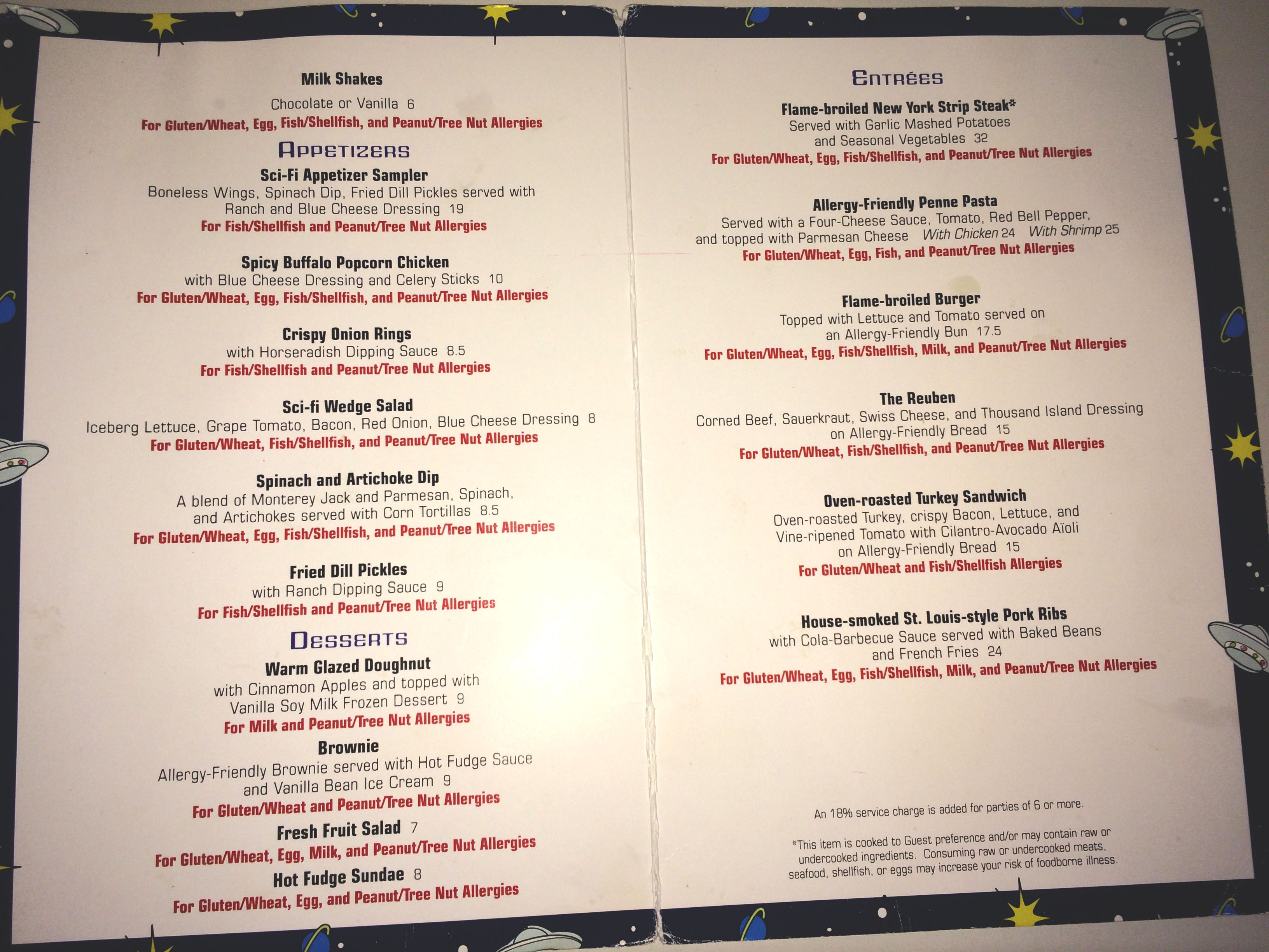 Allergy Menus at Disney World - Everything You Need to Know