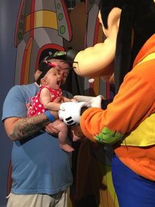 Disney world with an infant toddler character