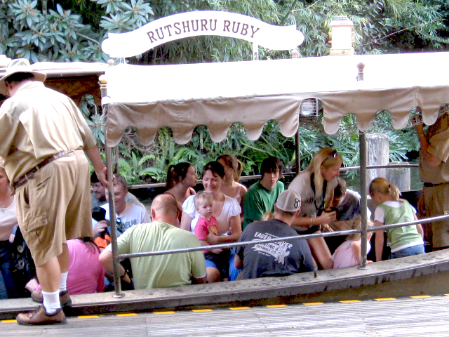Jungle Cruise Magic Kingdom Guests Sitting