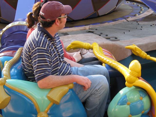 Magic Carpet Ride Car Aladdin Disney World leg room view