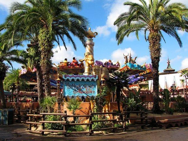Disney World Aladdin Magic Carpet Ride Full View