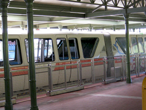 Monorail at disney world with toddler or infant