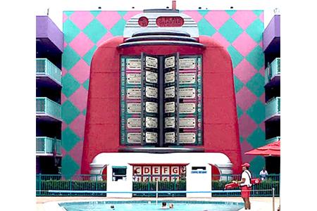 50's Jukebox at Pop Century Resort Disney World