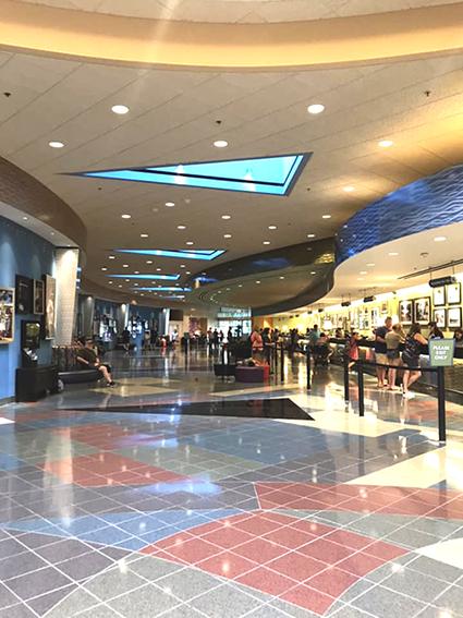 Lobby at Pop Century Resort at Disney World