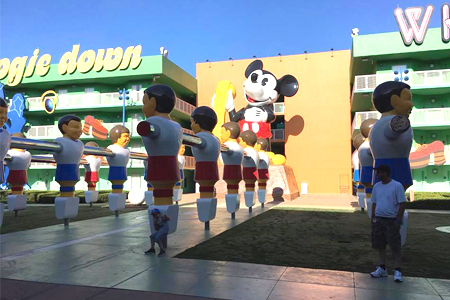 1970's Mickey Phone at Pop Century Resort Disney World