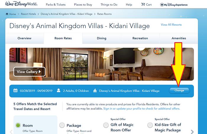 Disney World resort handicapped room reservation
