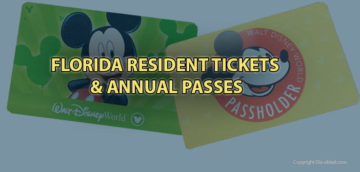 Florida Residents - Disney World Tickets and Annual Passes - What you need  to know. - Walt Disney World Made Easy for Everyone