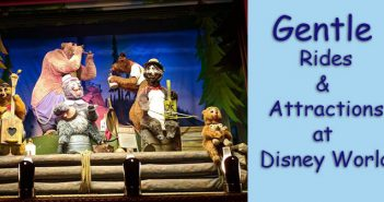 Gentle rides and attractions at Disney World - non-spinning
