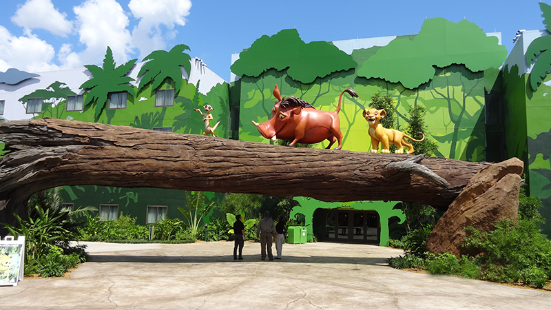 Lion King Log and Characters at Disney's Art of Animation Resort