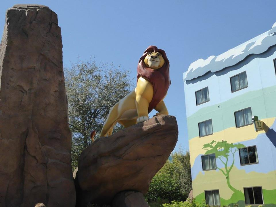Mufasa in Lion King Section of Lion King Log and Characters at Disney's Art of Animation Resort