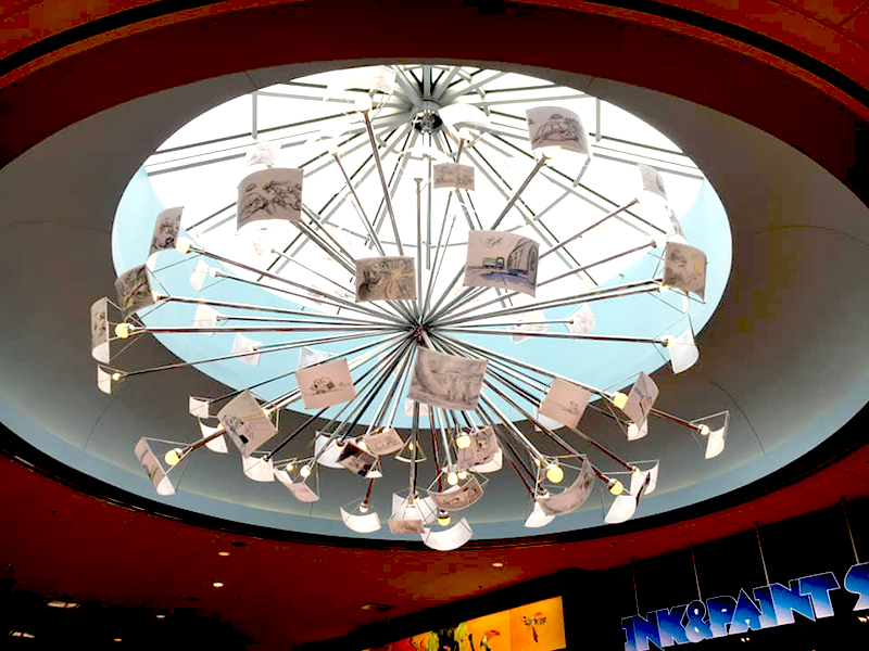 Chandelier in Disney's Lobby Animation Sketches at Art of Animation