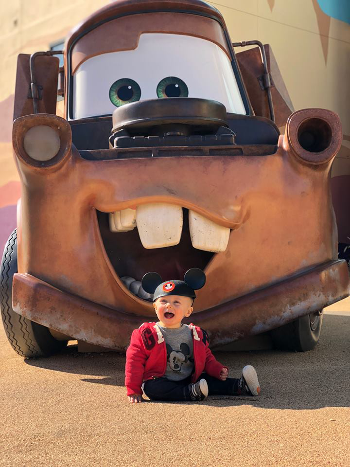 Car and child at Disney's Art of Animation Resort