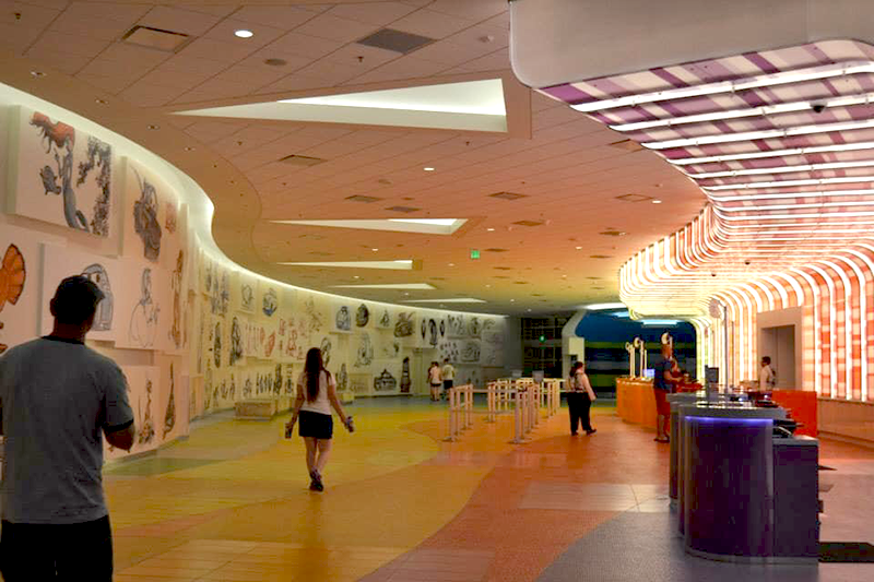 Front Desk and Lobby at Disney's Art of Animation