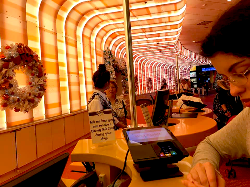 Front desk close up at Disney's Art of Animation Resort