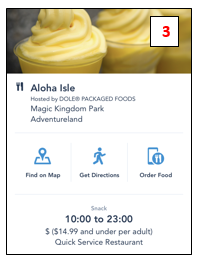 3 Mobile ordering at Disney World hours directions location