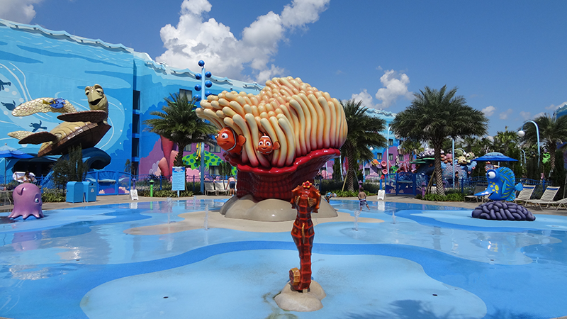 Big Blue Pool Play Area at Art of Animation Resort