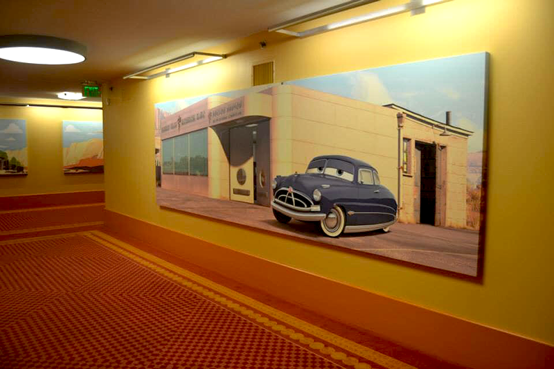 Cars hallway at Art of Animation Resort Disney World