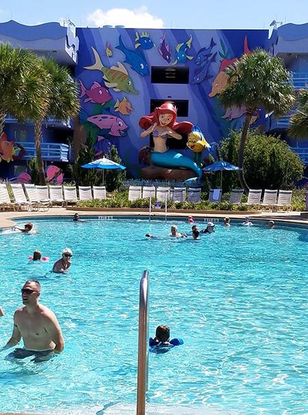 Flippin Fins Pool at Art of Animation Resort