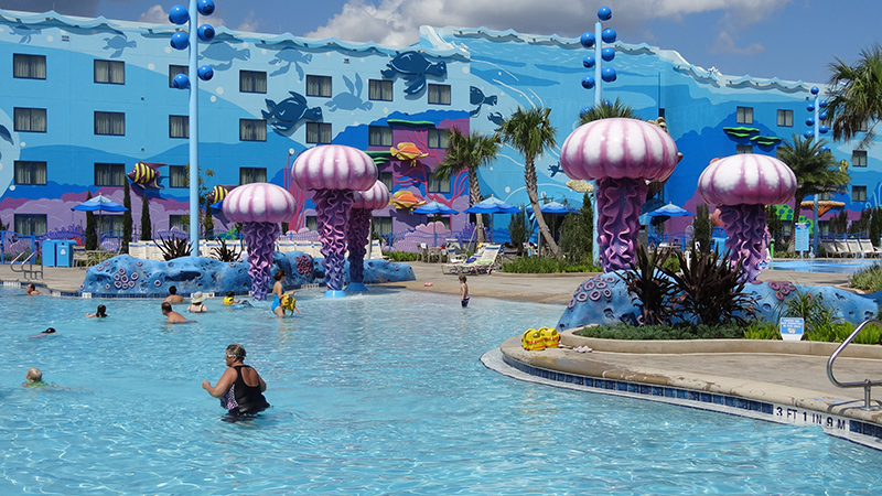Big Blue Pool at Disney's Art of Animation Resort