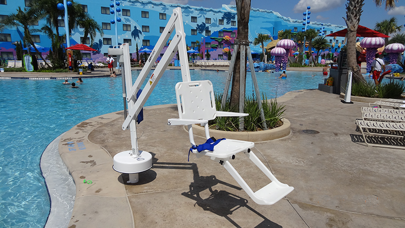 Pool Lift at the Big Blue Pool in Disney's Art of Animation Resort